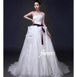 ウェディング リボンサッシュベルト 安い 結婚式 カラードレス 装飾品