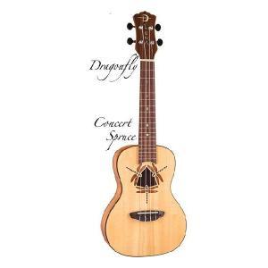 Luna Guitars Uke Dragonfly sld spruce top, mah (コンサートウクレレ)(送料無料)(SAVAREZ Low-G弦 144RL プレゼント)(マンスリープレゼント) kurosawa-music