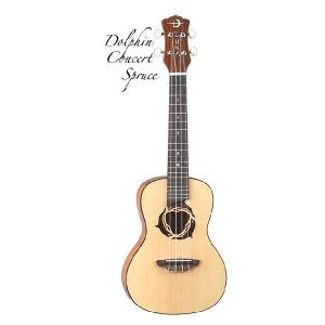 Luna Guitars Uke Dolphin concert spruce top, mah [UKE DPN SPR](コンサートウクレレ)(送料無料)(SAVAREZ Low-G弦 144RL プレゼント) kurosawa-music