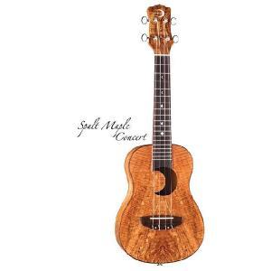Luna Guitars Uke Concert spalt maple crescent sd hole [UKE EX SM]  (コンサートウクレレ)(送料無料)(SAVAREZ Low-G弦 144RL プレゼント) kurosawa-music