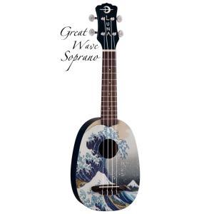 Luna Guitars Artistic Great Wave Soprano  [UKE GWS] (ソプラノウクレレ)(送料無料)(SAVAREZ Low-G弦 144RL プレゼント)(マンスリープレゼント) kurosawa-music