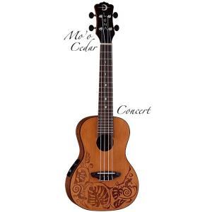 Luna Guitars Mo'o Concert Cedar  [UKE MO CDR] (コンサートウクレレ)(送料無料)(SAVAREZ Low-G弦 144RL プレゼント)(マンスリープレゼント) kurosawa-music