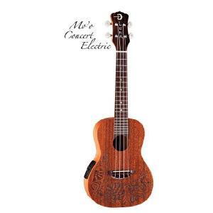 Luna Guitars Uke Mo'o Concert Electric [UKE MO EL] (コンサートウクレレ)(送料無料)(SAVAREZ Low-G弦 144RL プレゼント)(マンスリープレゼント) kurosawa-music
