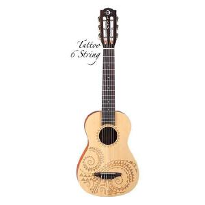 Luna Guitars Uke 6 string Tattoo bari select spruce [UKE TAT 6] (6弦ウクレレ)(送料無料)(マンスリープレゼント) kurosawa-music