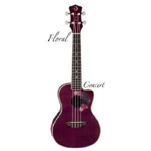 Luna Guitars ルナ ギターズ  UKE FLORAL コンサート[UKE FLORAL](送料無料)(SAVAREZ Low-G弦 144RL プレゼント)(ご予約受付中) kurosawa-music