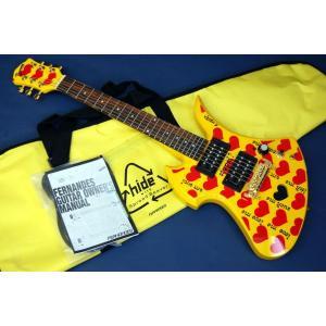 Fernandes / Burny MG Yellow Heart Jr. (HY)(X Japan hideモデル)(アンプ内臓ミニギター)(ソフトケース付)ご予約受付中|kurosawa-unplugged