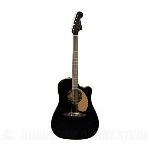 Fender Redondo Player Jetty Black《アコースティックギター》【送料無料】(ご予約受付中)|kurosawa-unplugged