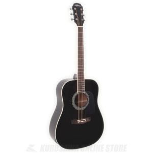 Aria AD-18 BK (Black)(アコースティックギター)(送料無料)(5のつく日ポイントUP中)|kurosawa-unplugged