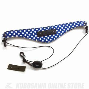 BEAUMONT ネックストラップ(クラリネット、オーボエ用)(ブルー・ポルカ・ドット)(クラリネット・オーボエ用ネックストラップ) kurosawa-unplugged