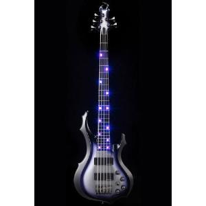 ESP Artist Series ANDROMEDA D LED[Doris Yeh / ドリスイエ] (Black-Purple-Silver Sunburst)(送料無料)(受注生産)(ストラップラバープレゼント)|kurosawa-unplugged