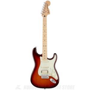 Fender Deluxe Strat HSS, Maple, Tobacco Sunburst[0...