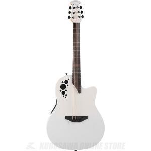 Ovation Elite TX Mid Depth - 1778TX(Satin White) (アコースティックギター/セミアコ)(送料無料)|kurosawa-unplugged