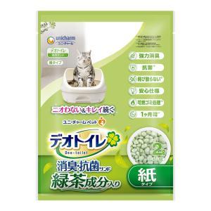 猫砂 ユニチャーム デオトイレ専用 飛び散らない 緑茶成分入り・消臭サンド 2L (猫砂/ねこ砂/ネコ砂 デオトイレ専用 )(猫の砂/猫のトイレ)