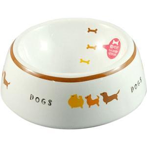 マルカン 犬用陶器食器 犬の行進 Sサイズ (犬の食器 しょっき/セラミック・陶器/フードボウル)(...