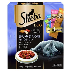 シーバデュオ 香りのまぐろ味セレクション 240g (ドライフード/キャットフード/Sheba Duo シ―バデュオ/ペットフード)(猫用品/ねこ ネコ/ペット用品)