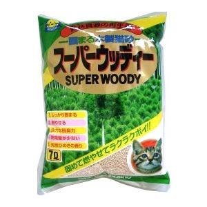 猫砂 常陸化工 スーパーウッディ 猫砂 7L (木系の猫砂/ねこ砂/ネコ砂)(燃やせる/消臭効果)(猫の砂/猫のトイレ)(猫用品/ねこ ネコ/ペット用品)