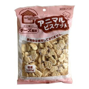 オーシーファーム アニマルビスケット チーズ風味 180g (犬用おやつ/犬のおやつ・いぬのおやつ・犬のオヤツ/ドックフード/bulk)|kurosu