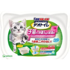 ユニチャーム 1週間消臭・抗菌デオトイレ 本体セット 子猫か...
