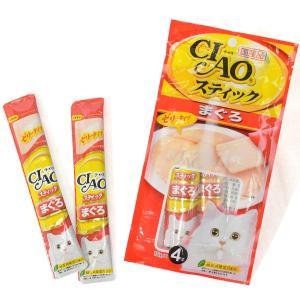 いなば チャオ スティック CIAOスティック まぐろ 15g×4本入 (キャットフード/猫用おやつ...