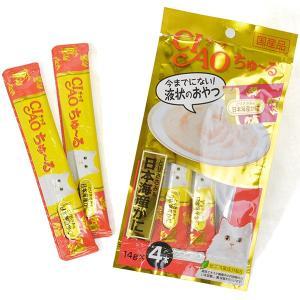 いなば チャオ ちゅーる ちゅ〜る とりささみ&日本海産かに 14g×4本入(キャットフード/猫用おやつ/猫のおやつ・猫のオヤツ・ねこのおやつ)