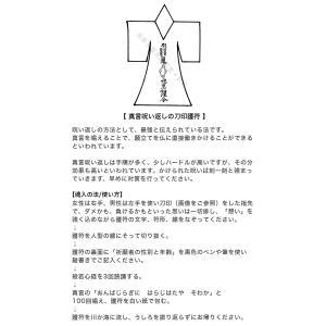 【真言呪い返しの刀印護符】川や海にながすタイプの詳細画像1