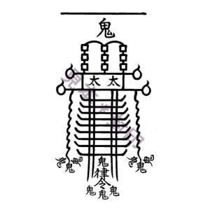 【悪霊や生霊の悪しきオーラや念、邪気を祓い消す刀印護符】天帝尊星八十六霊符|kurosukedou