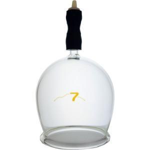 霧島ガラス玉 7号です。直径約7cm 材質 耐熱硬質ガラス 吸引弁付き完成品  霧島黒酢のカッピング...