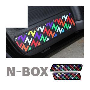 新型 NBOX カスタム JF3 JF4 キックガード Nロゴ ドアガード インナードアガード ドアプロテクター Nボックス 内装 パーツ アクセサリー 便利グッズ|kuruma-com2006