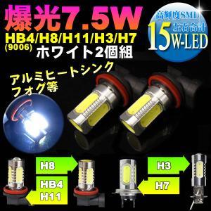 ボーナスセール フォグランプ 汎用 ヘッドライト 電球 led フォグ バルブ 交換 H8 HB4 H11 H3 H7 H16 選択 爆光 7.5w 12V 2個組 kuruma-com2006