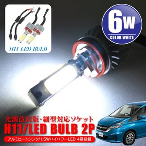ニッサン セレナ HC27 HC26 HC25フォグ LED フォグランプ H11ホワイト 白 爆光6.0W 細型 バルブ|kuruma-com2006