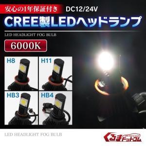 LED ヘッドライト ヘッドランプ コンバージョンキット H11 H8 HB4 HB3 純正交換 CREE高輝度 1200lm 6000k ホワイト|kuruma-com2006
