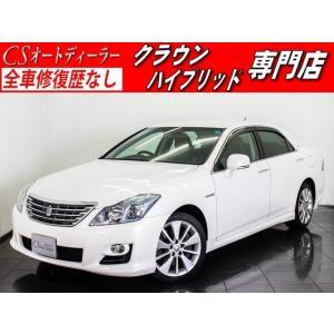 中古車 トヨタ クラウンハイブリッド クラウンHV 3.5 黒本革 HDDナビ フルセグ エアシート ETC|kurumaerabi