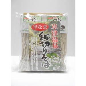 細切りそば 半なま 2食分つゆ付|kusatu-meisan