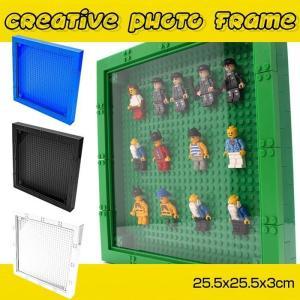互換レゴ フィグ ケース ミニフィギュア ディスプレイ クリエイティブフォトフレーム 25.5x25...