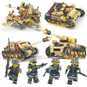 互換 レゴ互換品 戦車 4台セット ミニフィグ ミリタリー ブロック 4in1|kusunokishop