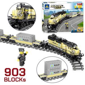互換 レゴ LEGO ブロック 知育 ブロック 電車シリーズ  コンテナ レール付き はしる電車 は...