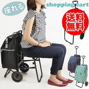 座れるイス付き折り畳みキャリーカート 保冷機能付 CHARMISS(シャルミス)|kusurino-wakaba