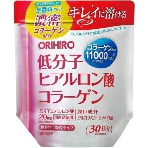 【倍!倍!ストア 誰でも+5%】オリヒロ 低分子ヒアルロン酸コラーゲン 袋タイプ 180g|kusurino-wakaba