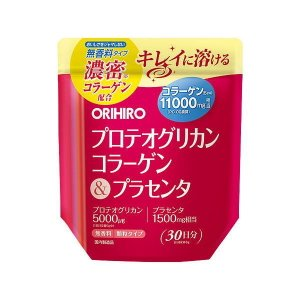 【倍!倍!ストア 誰でも+5%】オリヒロ プロテオグリカンコラーゲン&プラセンタ 180g|kusurino-wakaba
