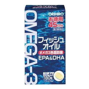 オリヒロ フィッシュオイル 180粒 内容量:180粒 特長:EPA、DHAを含むイワシ由来の魚油を...