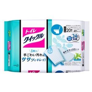 花王 トイレクイックル ジャンボパック ミントの香り つめかえ用 (20枚入) 詰め替え用 トイレ用...