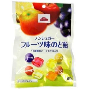 トップバリュ ノンシュガー フルーツ味のど飴 (80g) ※軽減税率対象商品 kusurinofukutaro