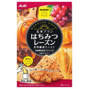 アサヒ バランスアップ 玄米ブラン はちみつレーズン (3枚×5袋) 栄養機能食品