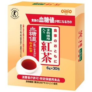 日清オイリオ 食事のおともに 食物繊維入り紅茶 (6g×30包) 特定保健用食品 トクホ 血糖値が気になる方に ※軽減税率対象商品|kusurinofukutaro