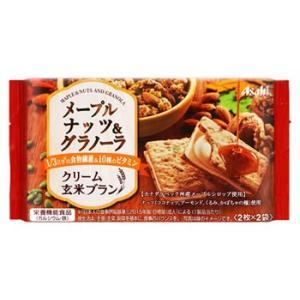アサヒ バランスアップ クリーム玄米ブラン メープルナッツ&グラノーラ (2枚×2袋) 栄養機能食品...