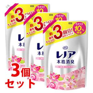 ★セール★ 《セット販売》 P&G レノア 本格消臭 フローラルフルーティソープの香り 超特大サイズ 増量 つめかえ用 (1540mL)×3個セット kusurinofukutaro