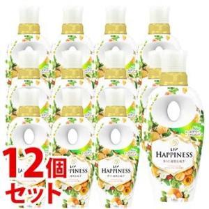 数量限定 《セット販売》 P&G レノア ハピネス ナチュラルフレグランス アプリコット&ホワイトフローラルの香り 本体 (520mL)×12個セット  柔軟剤 P&G kusurinofukutaro