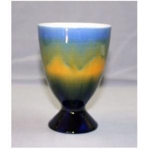 中村 秋塘 フリーカップ (青)|kutani-bitouen