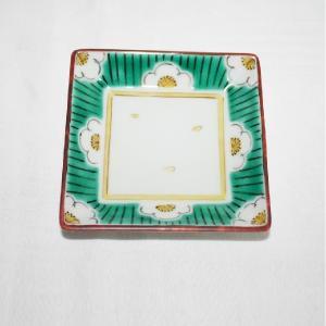 手描き 九谷焼 和洋食器 白梅文様三寸角皿|kutani-bitouen|03