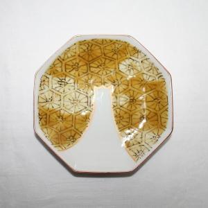 手書き 九谷焼 五彩富士文様四寸八角皿|kutani-bitouen|05